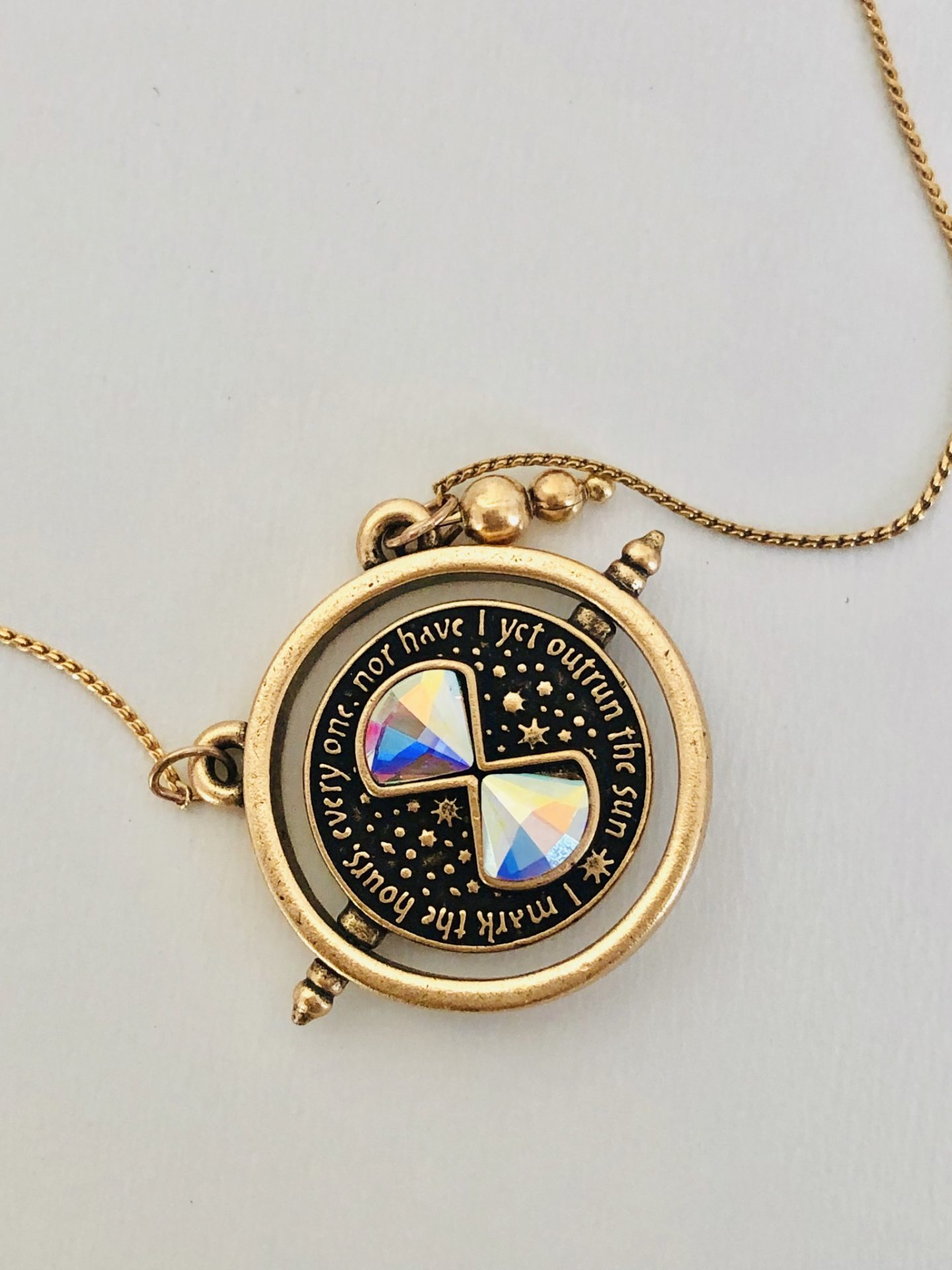 Alex and Ani Harry Potter Time Spinner Necklace